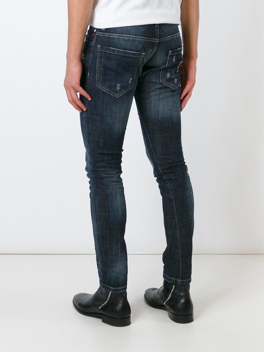 philipp plein skinny jeans in blue for men lyst. Black Bedroom Furniture Sets. Home Design Ideas
