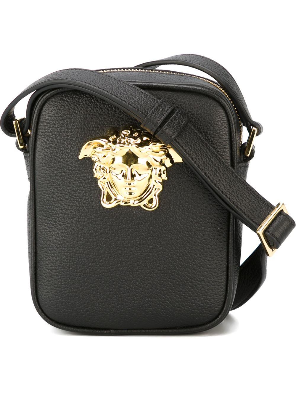 Lyst - Versace Medusa Messenger Bag in Black for Men 23c79791aab