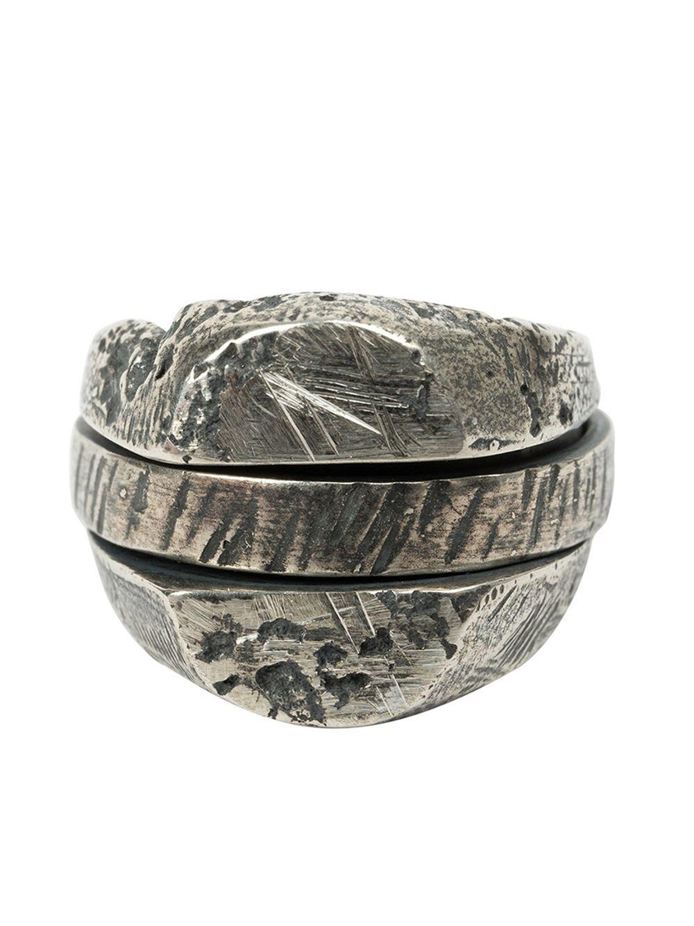 Lyst Tobias Wistisen Distressed Spinner Ring In Metallic