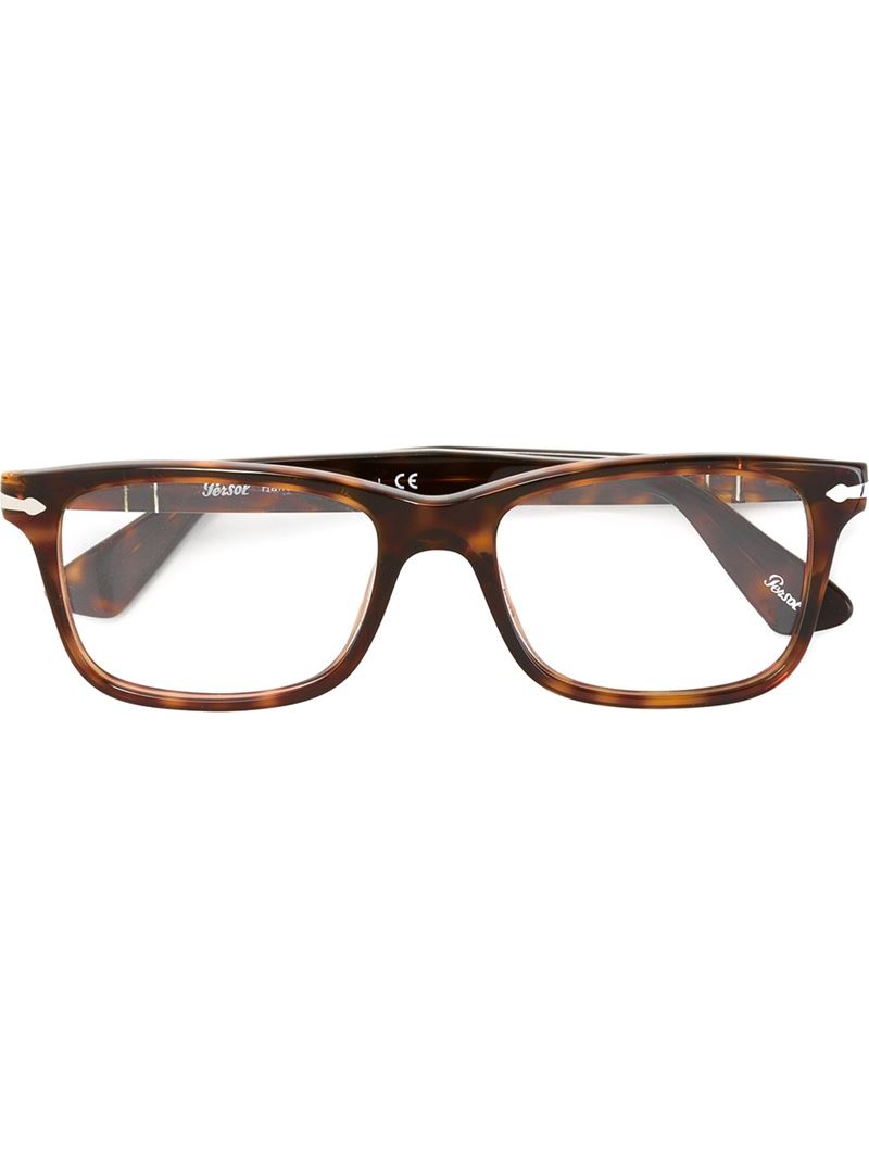 Persol Rectangular Frame Glasses in Black for Men Lyst