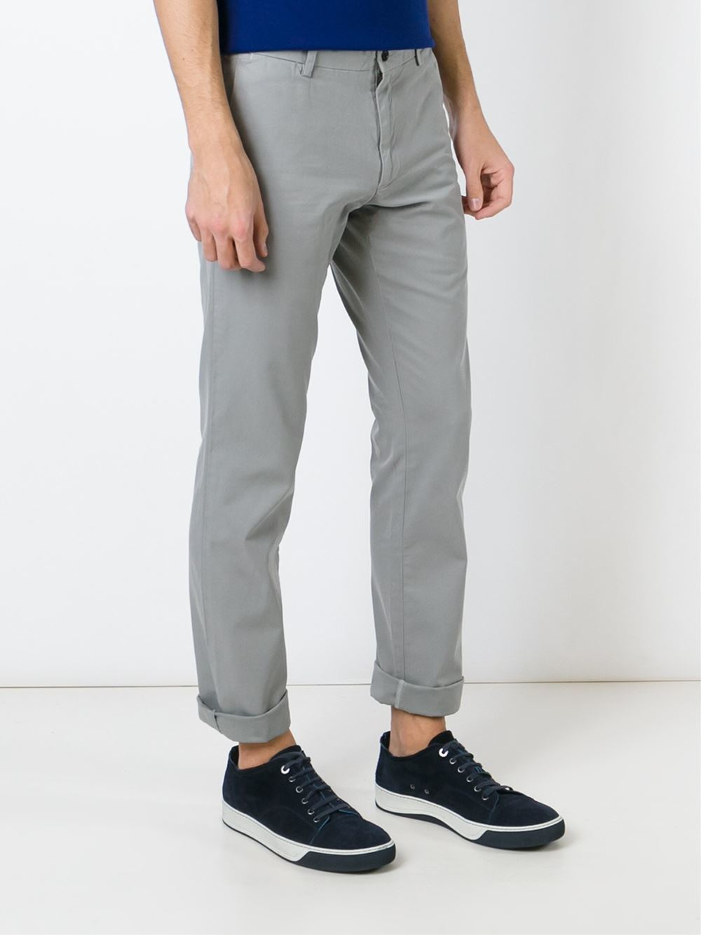 Polo Ralph Lauren Classic Slim Chinos In Gray For Men