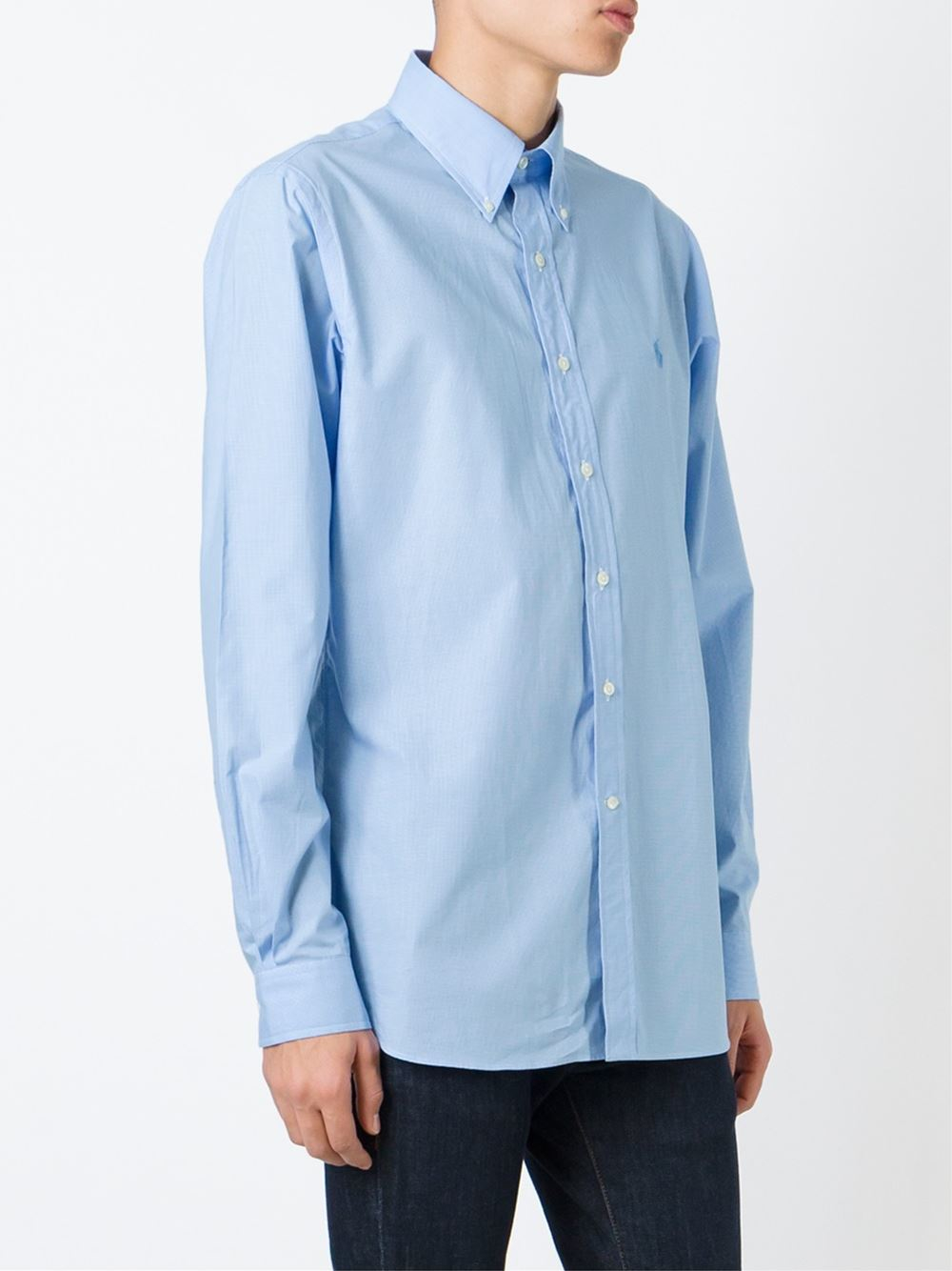 Polo Ralph Lauren Classic Button Down Shirt In Blue For