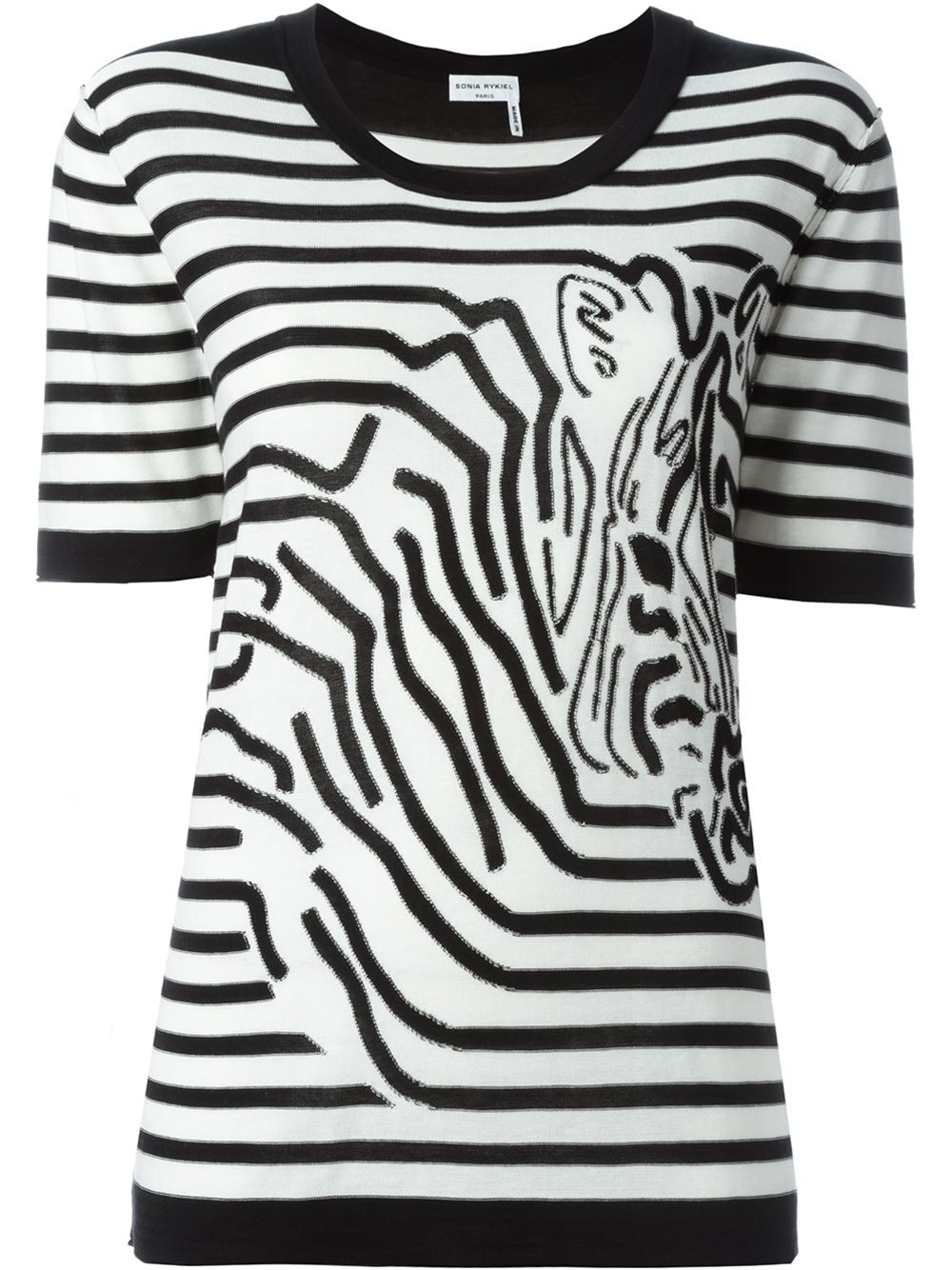 Zebra T Shirt Lyst - Sonia Ry...