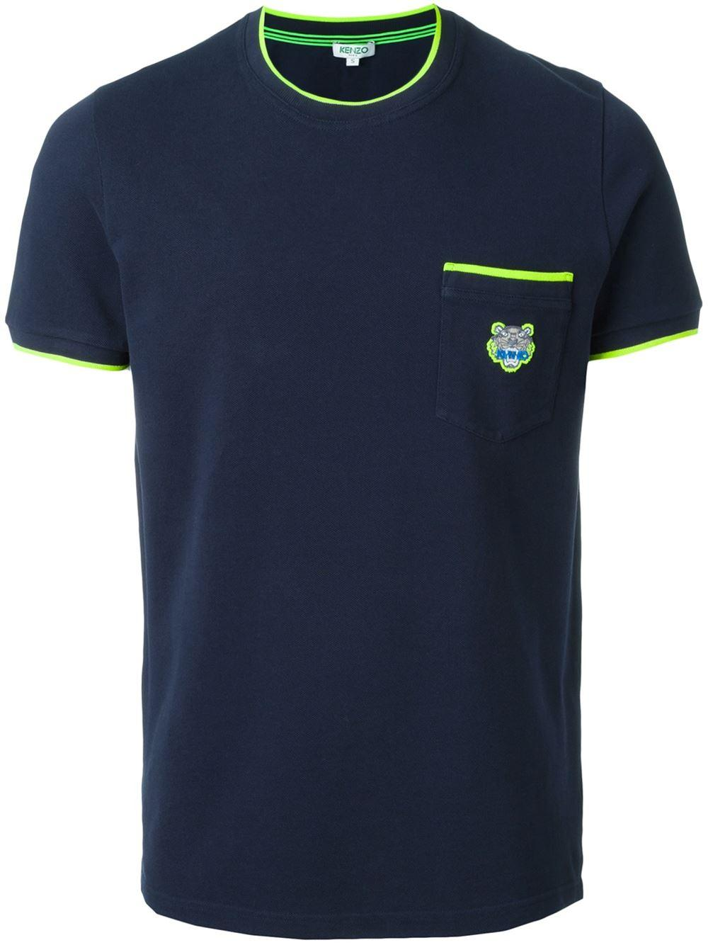 Lyst kenzo 39 tiger 39 t shirt in blue for men for Bear river workwear shirts