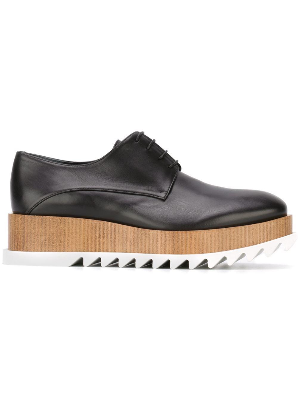 jil sander platform lace up shoes in black lyst
