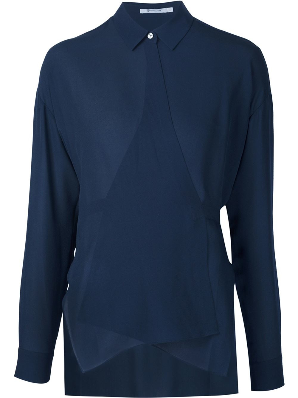 t by alexander wang wrap style shirt in blue lyst ForWrap Style T Shirts