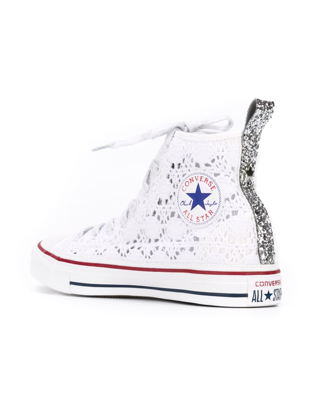 Lyst Converse Lace High Top Sneakers In White For Men