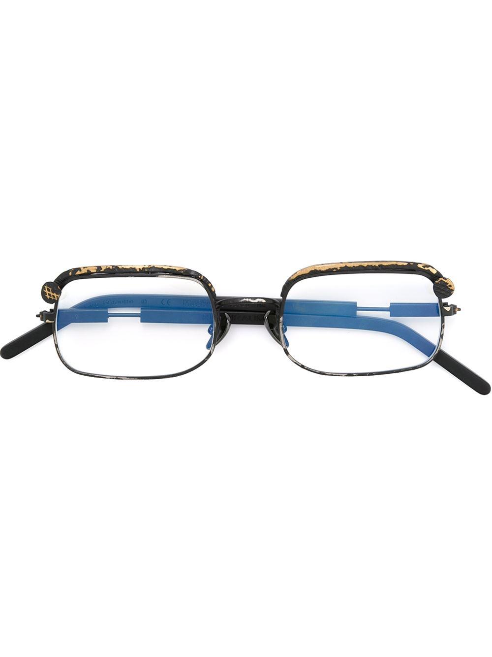 Kuboraum Distressed Rectangular Frame Glasses in Black Lyst