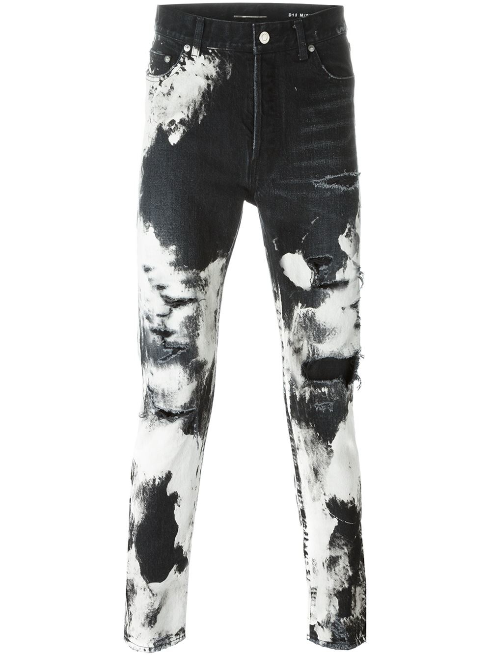 35335c98858 Saint Laurent Tie Dye Jeans in Black for Men - Lyst