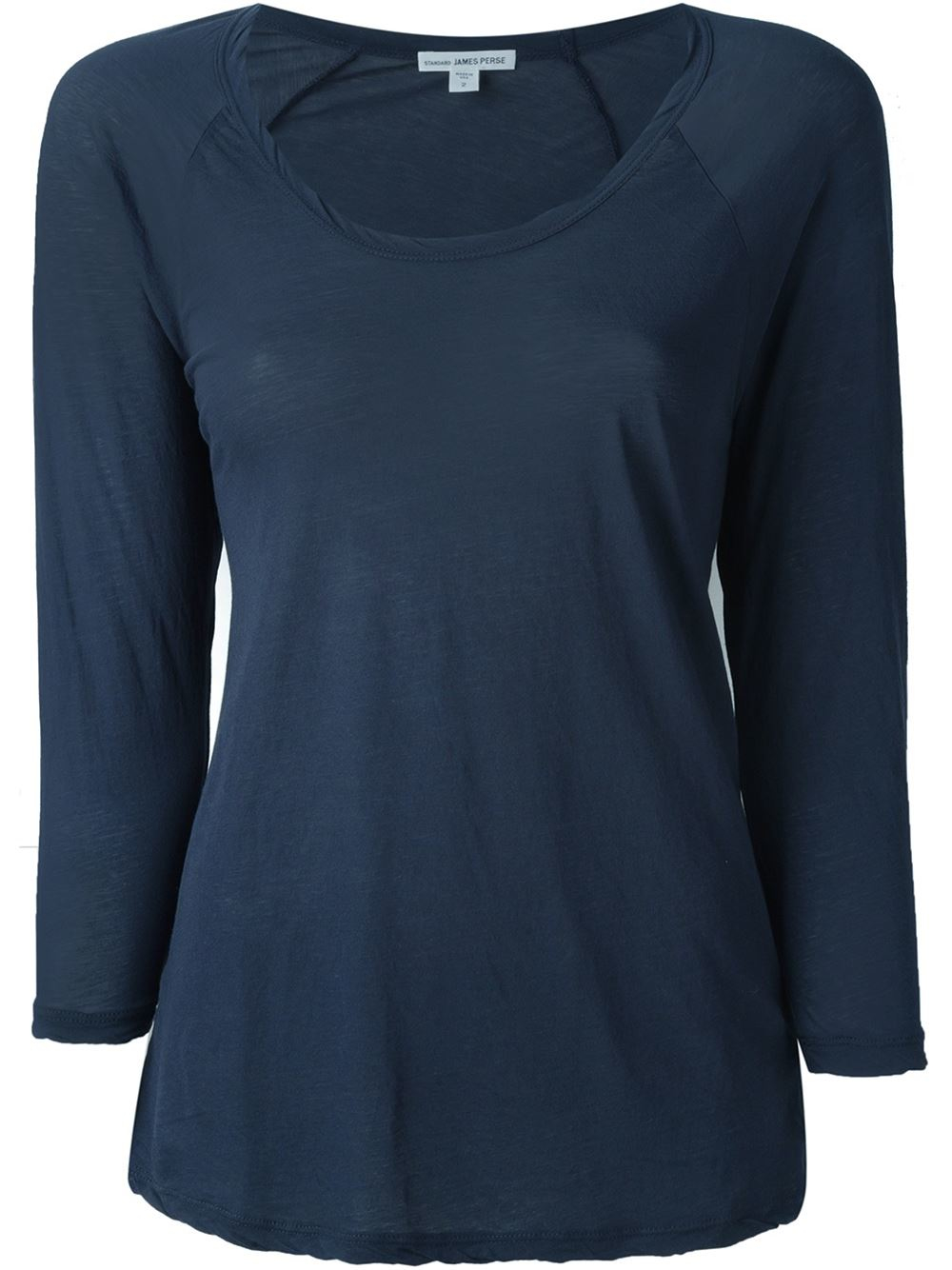 James perse raglan t shirt in blue lyst for James perse t shirts sale