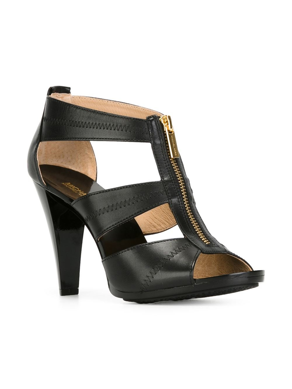 michael michael kors berkley sandals in black lyst