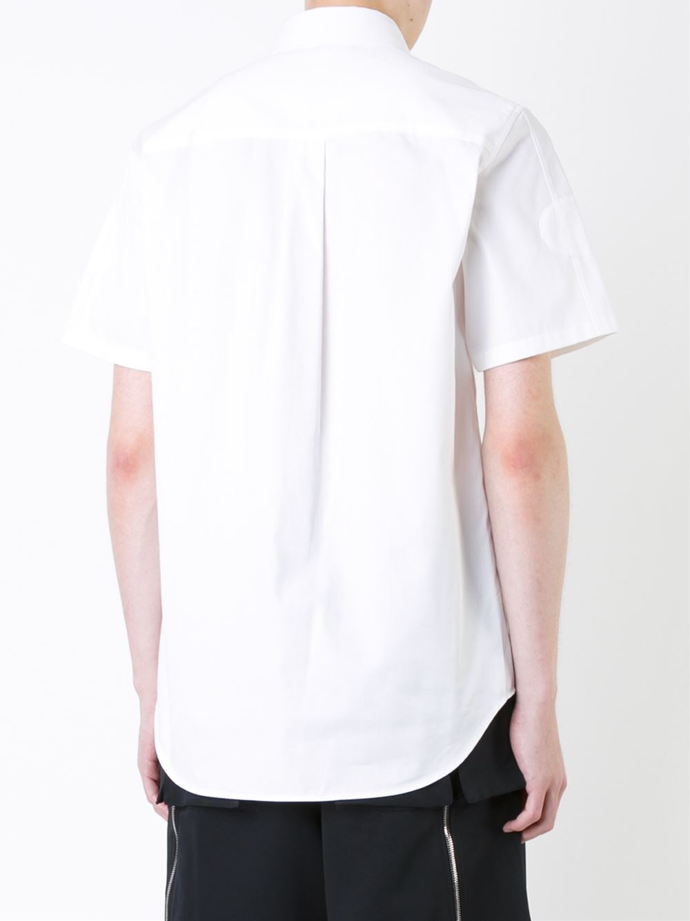 Alexander Wang Cutaway Collar Shirt In White For Men Lyst