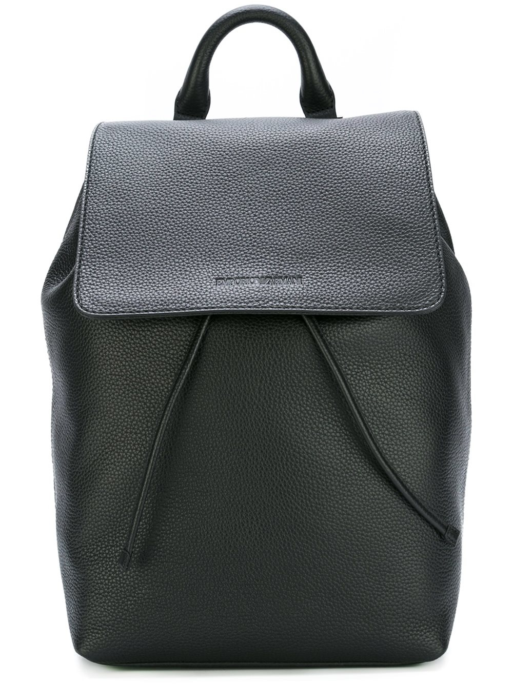 Emporio Armani Grained Leather Backpack for Men - Lyst 7a6e1f7cff7b2