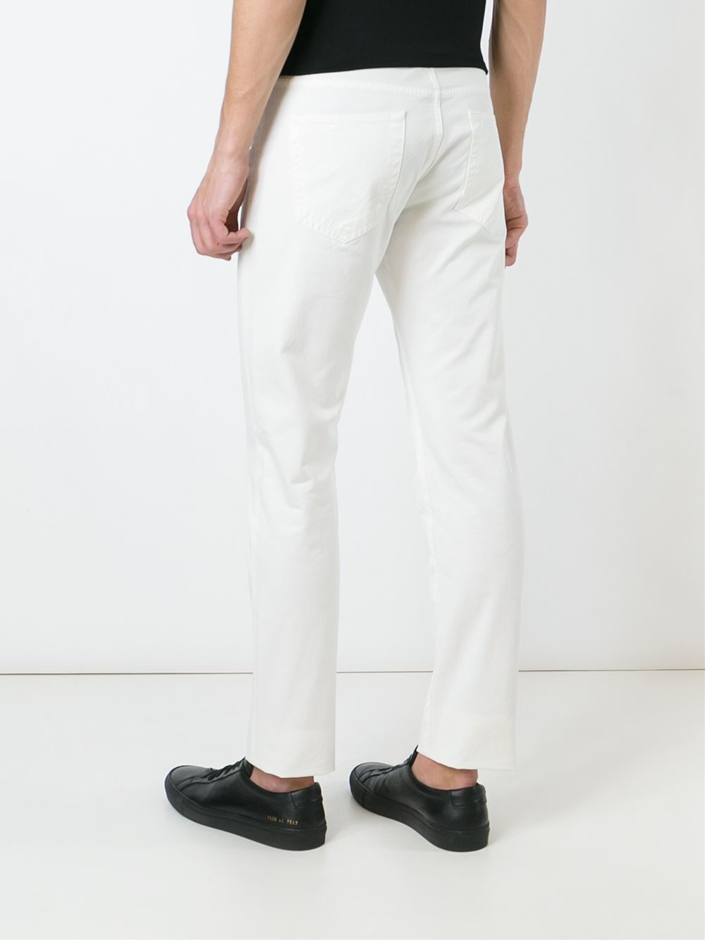Find mens slim fit white trousers at ShopStyle. Shop the latest collection of mens slim fit white trousers from the most popular stores - all in one.