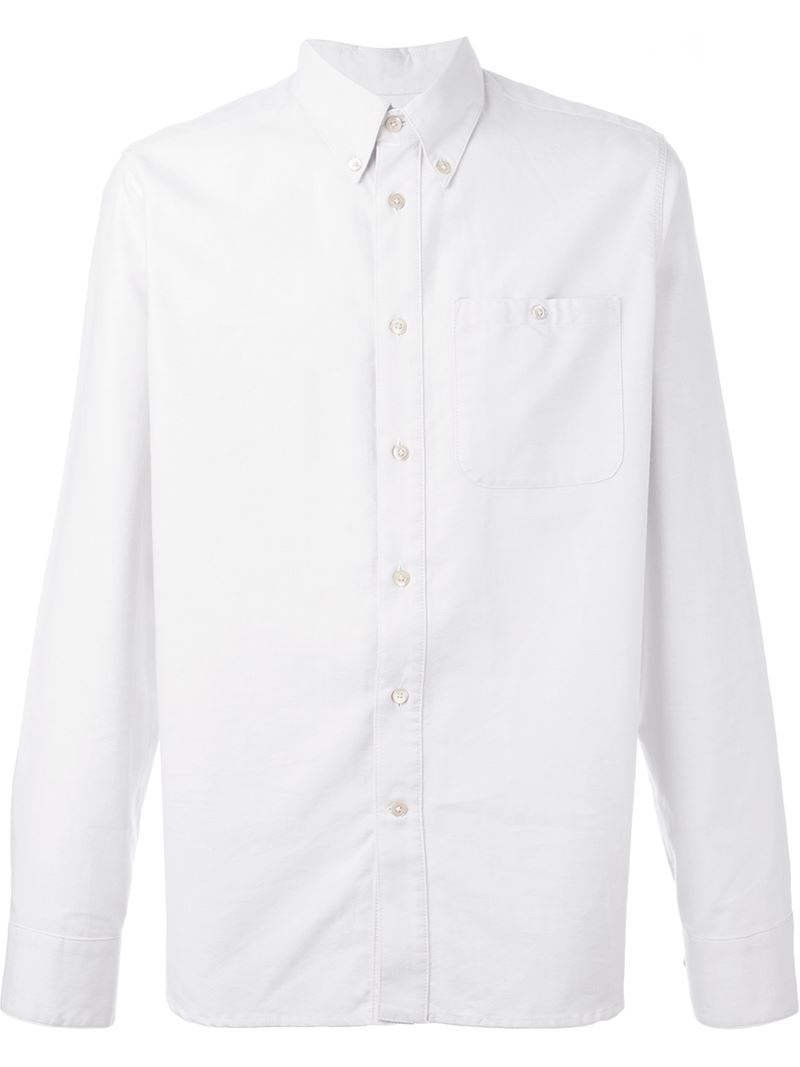 A kind of guise 39 permanents 39 button down oxford shirt in for White button down oxford shirt