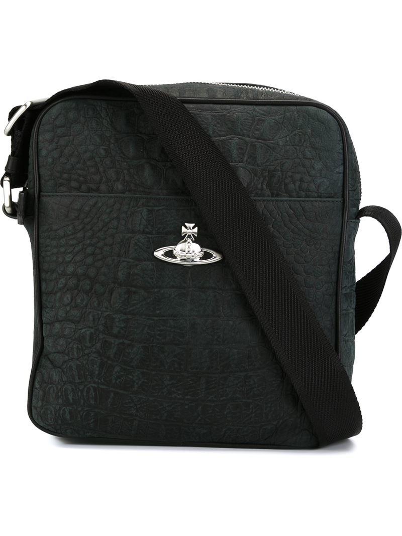 Vivienne westwood Square Messenger Bag in Black for Men