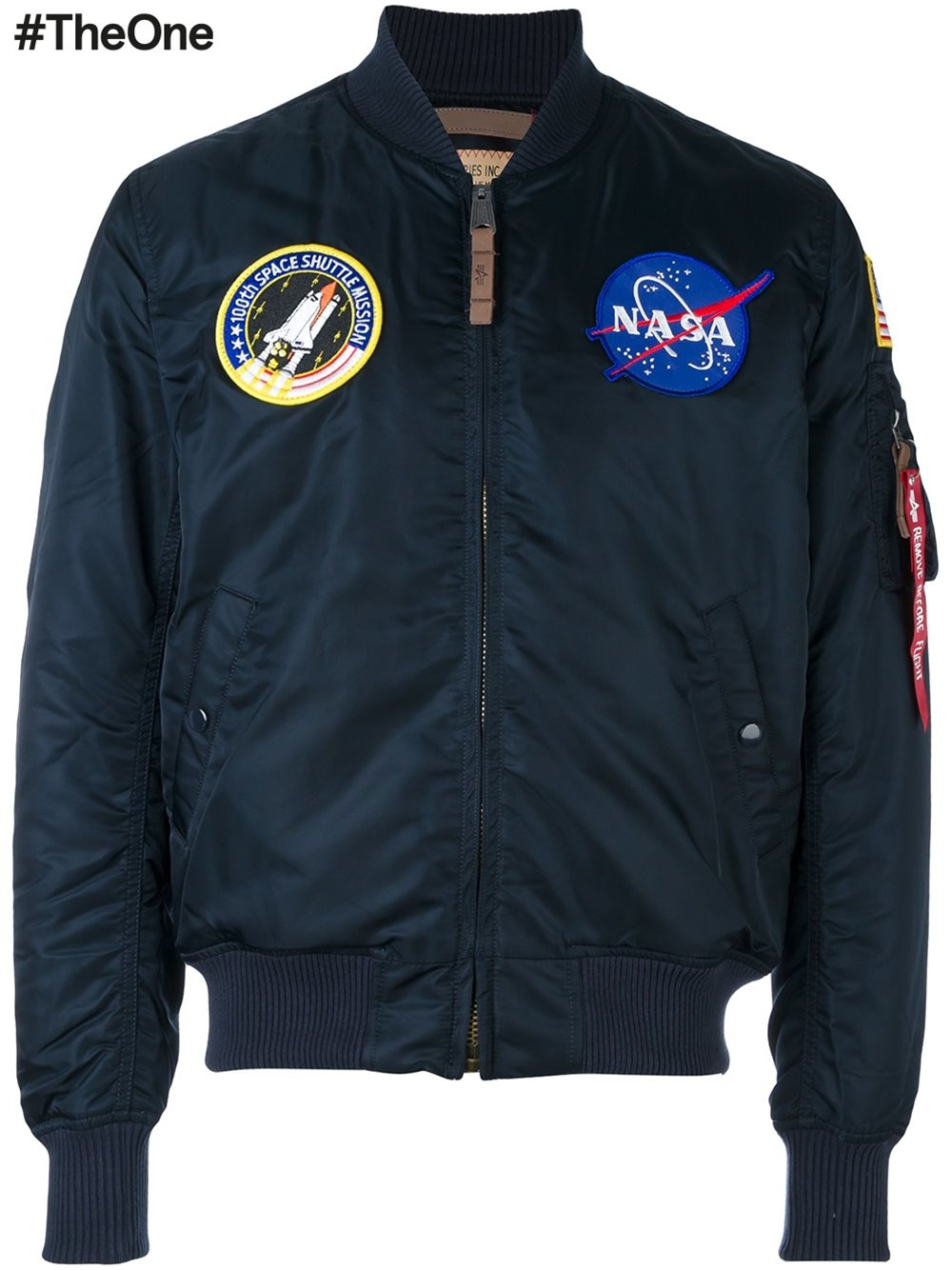 Alpha industries 'nasa Ma-1' Bomber Jacket in Blue for Men ...