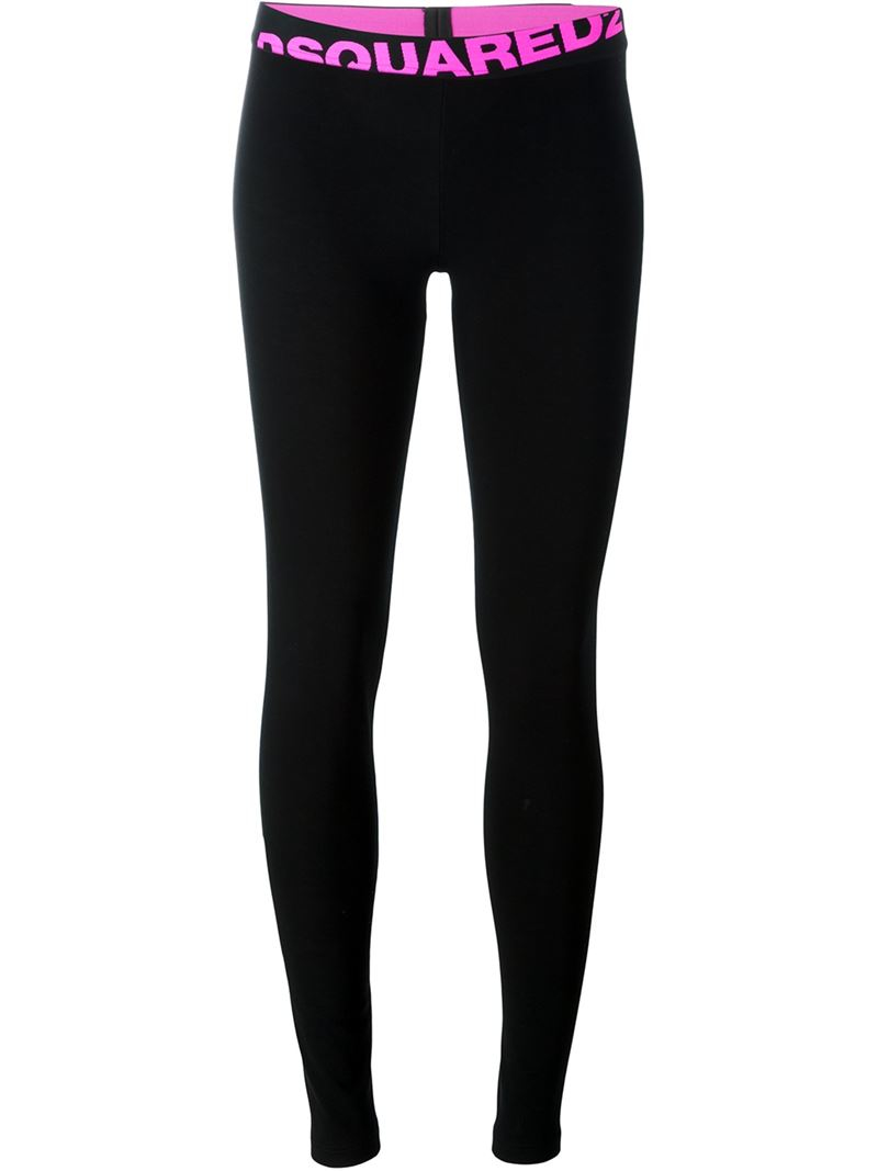 dsquared sports leggings in black lyst. Black Bedroom Furniture Sets. Home Design Ideas