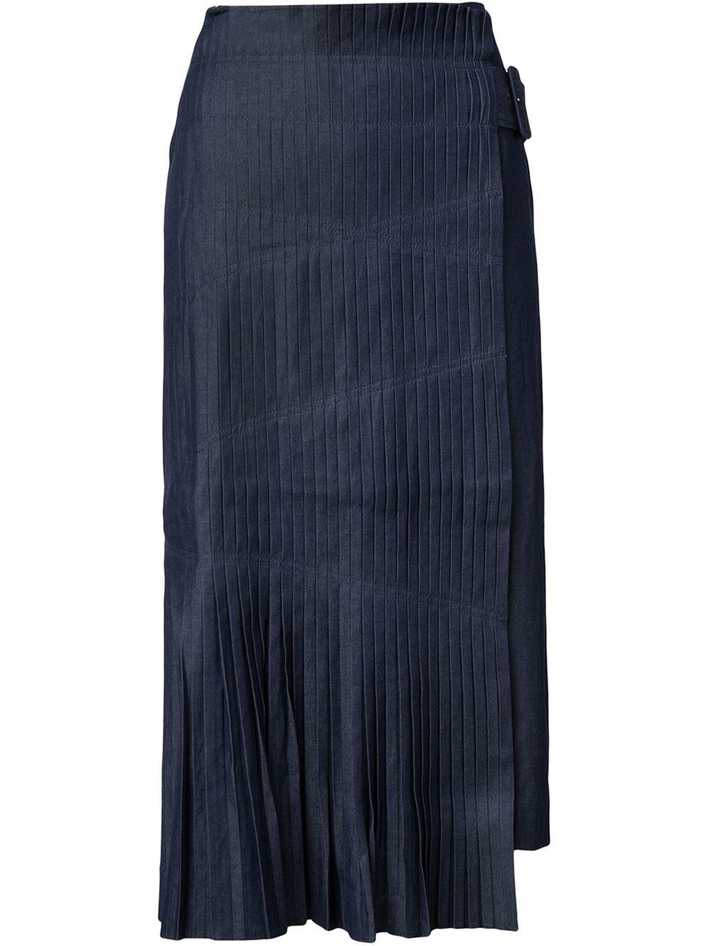 tibi pleated skirt in black lyst