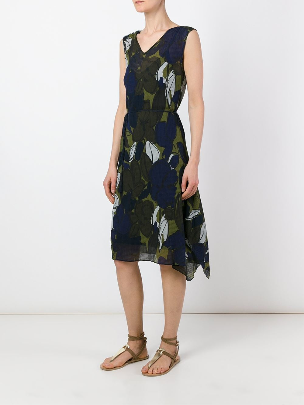 Lyst Paul By Paul Smith Floral Print Dress In Black