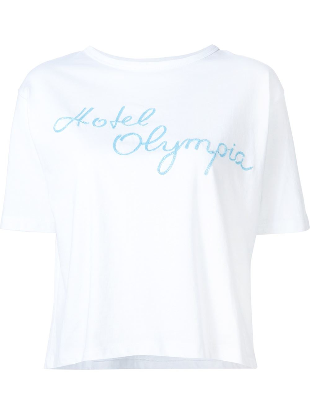 Lyst Olympia Le Tan Logo Print T Shirt In White