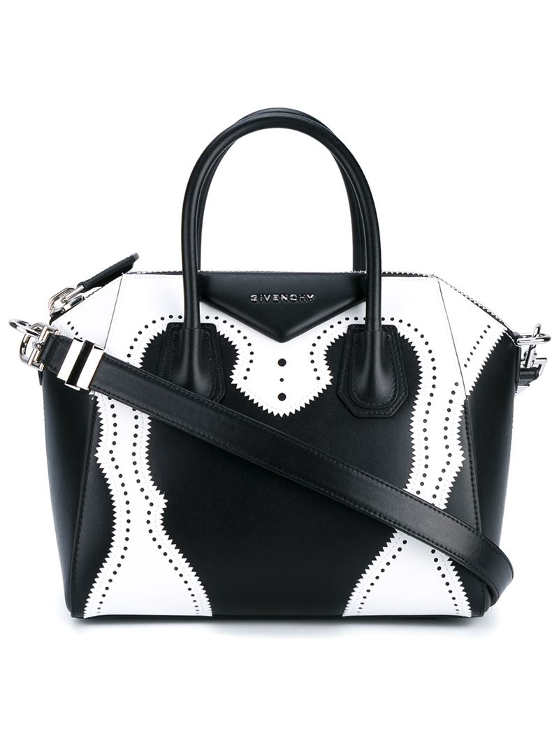 52ba82a839a89 Givenchy Small Antigona Brogue Leather Bag in White - Lyst