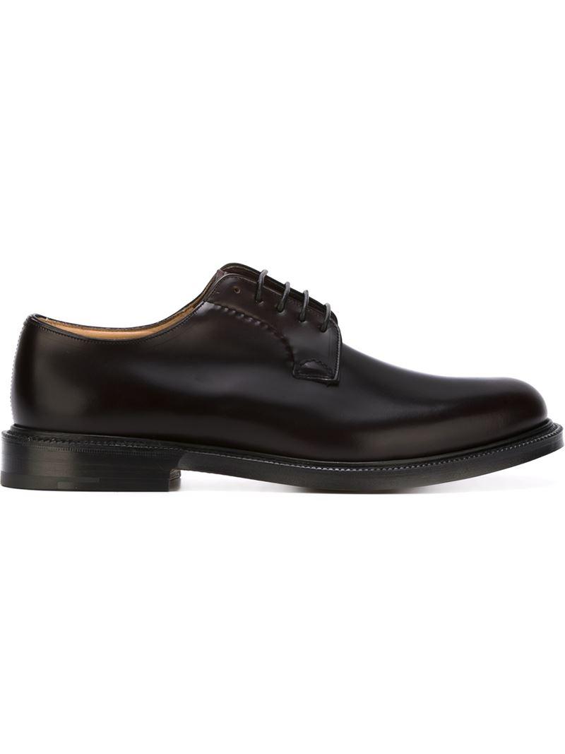 Ferragamo Palagio Leather Derby Shoes