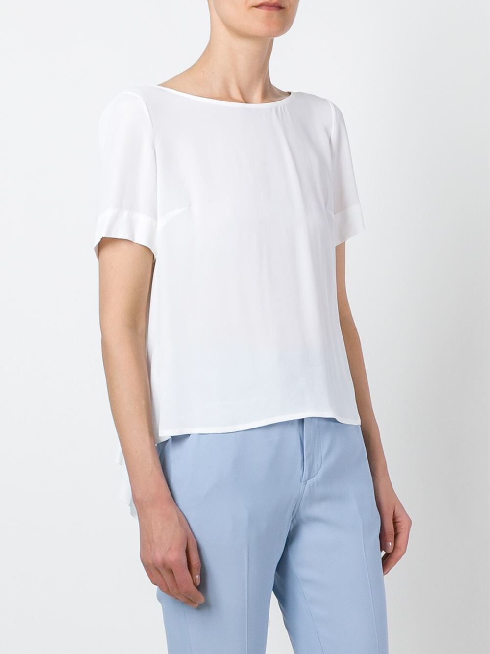 Dondup Scoop Neck T Shirt In White Lyst