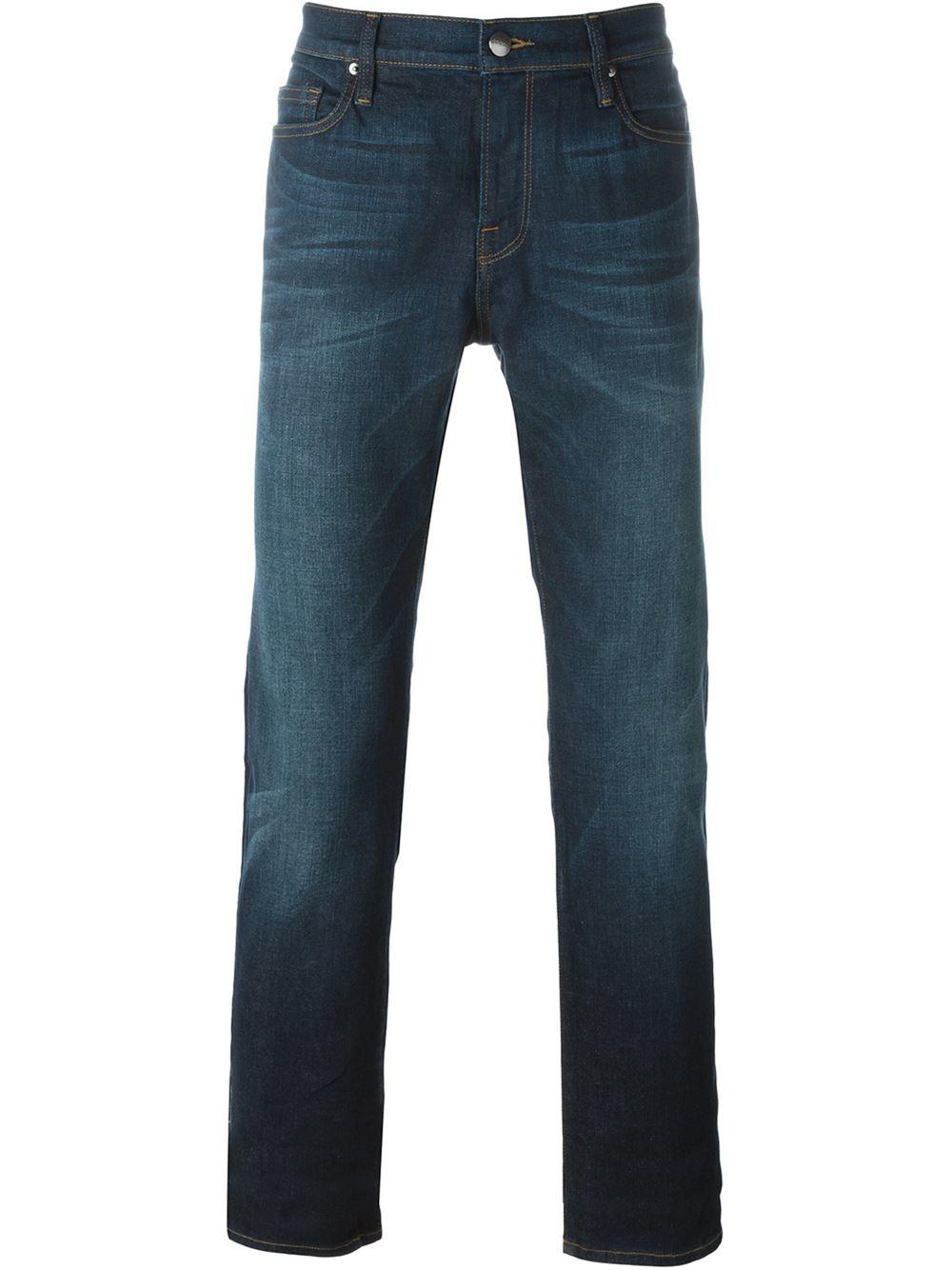 frame slim fit jeans in blue for men lyst. Black Bedroom Furniture Sets. Home Design Ideas