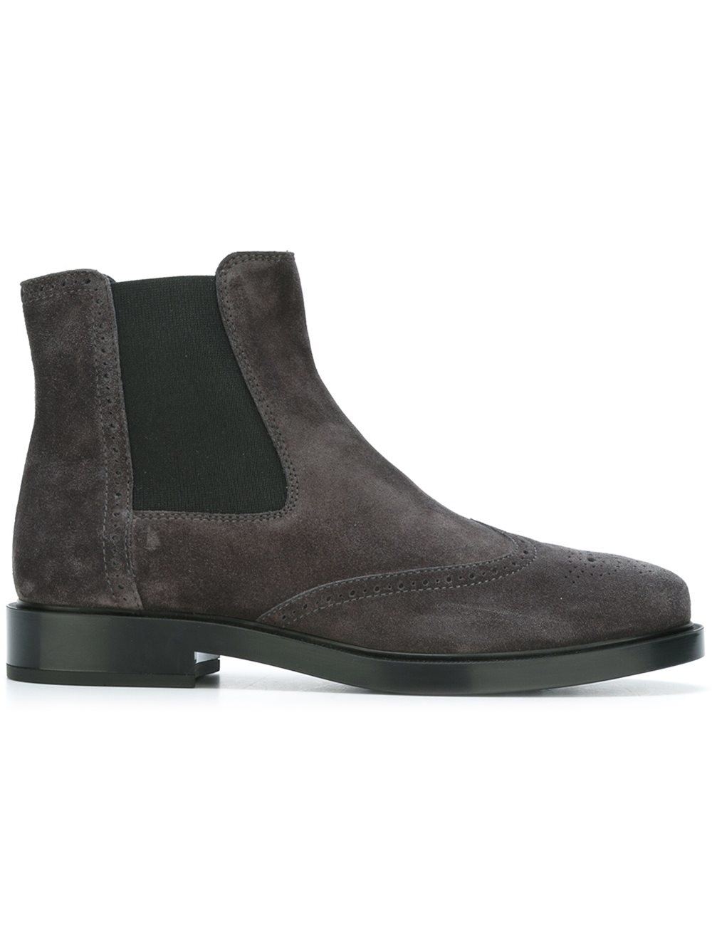 lyst tod 39 s chelsea boots in gray. Black Bedroom Furniture Sets. Home Design Ideas