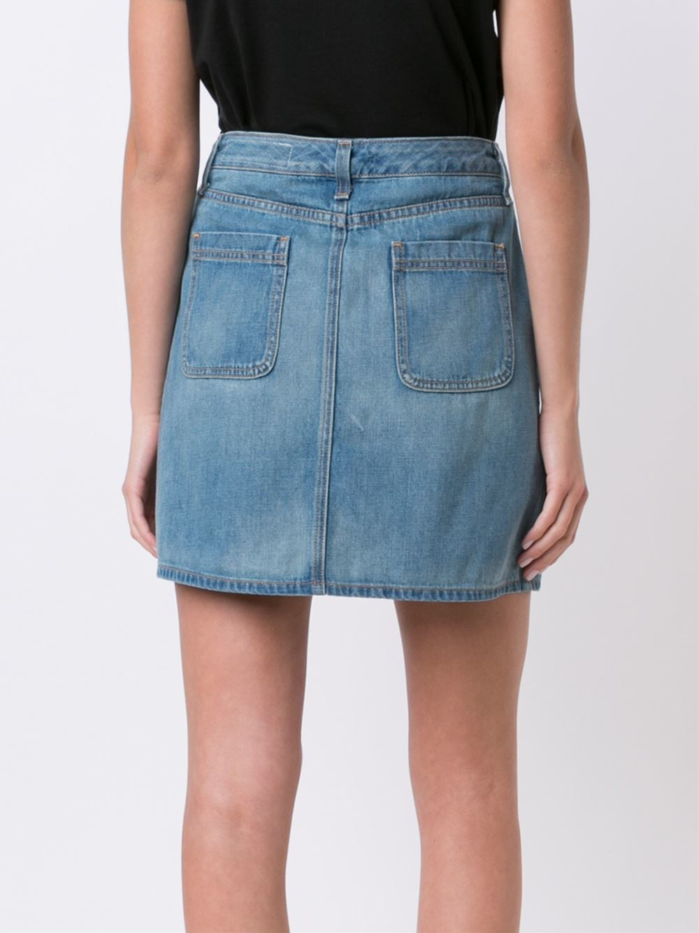 rag bone denim skirt in blue lyst