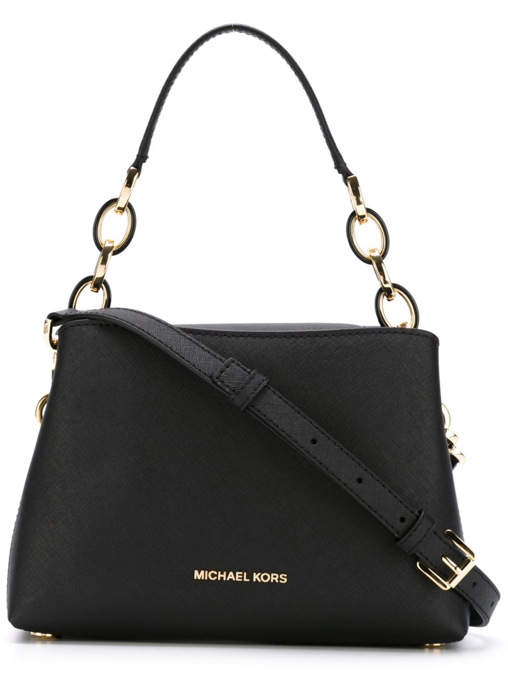 michael michael kors small 39 portia 39 tote in black lyst. Black Bedroom Furniture Sets. Home Design Ideas