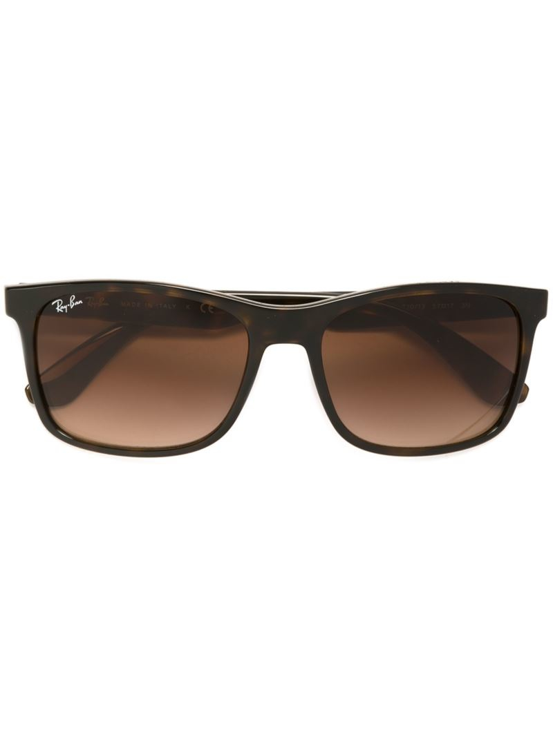 Ray Ban Square Frame Glasses : Ray-ban Square Frame Sunglasses in Brown Lyst
