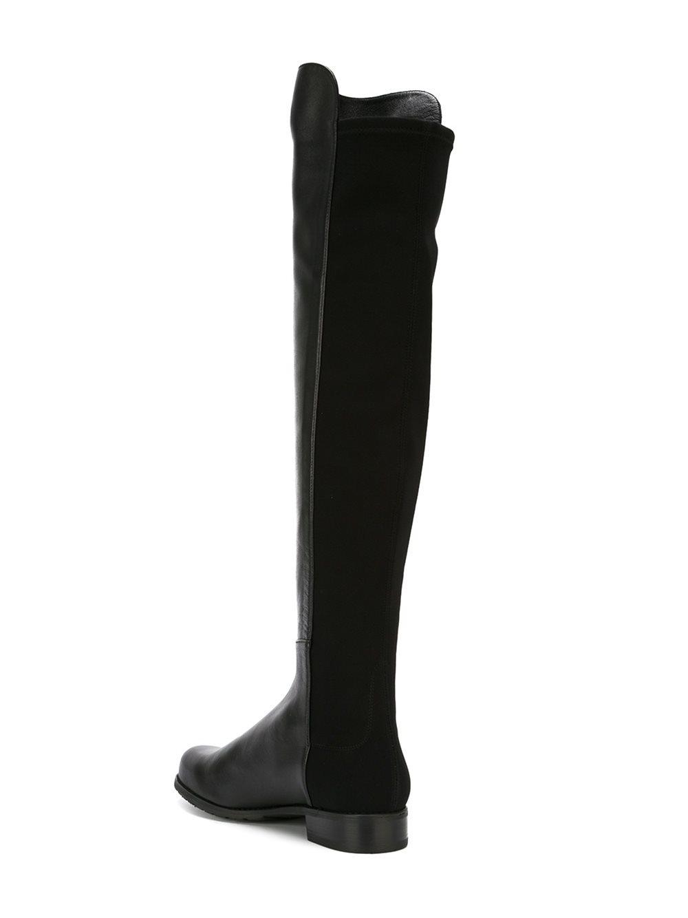 stuart weitzman knee length boots in black lyst