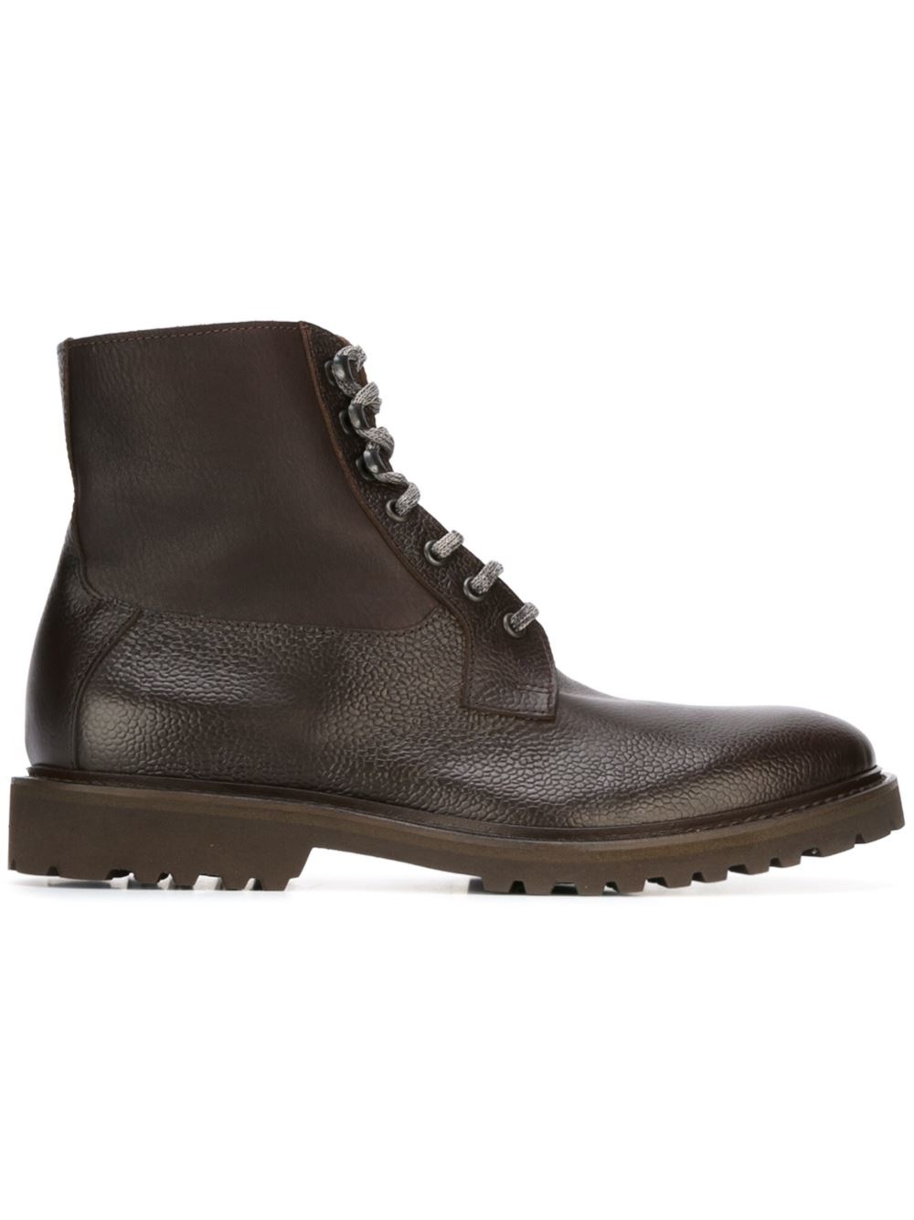 Lyst Eleventy Lace Up Boots In Brown For Men