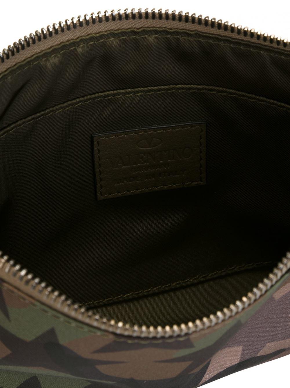 8e6b92358a9 Valentino Garavani Small 'camustars' Clutch Bag in Brown for Men - Lyst