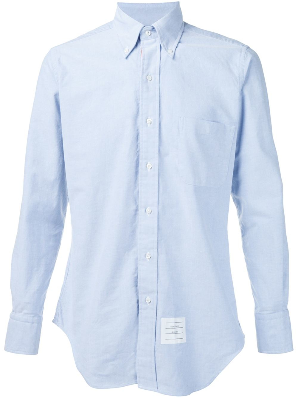 Thom browne button down shirt in blue for men lyst for Thom browne shirt sale