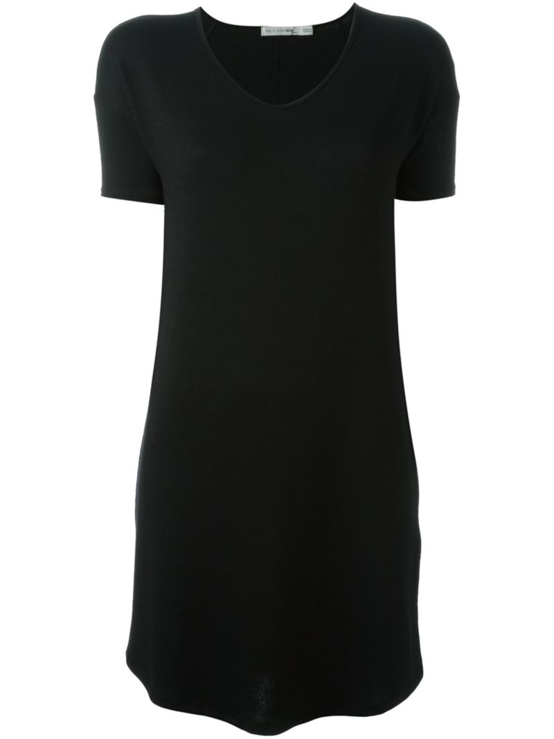 rag bone loose fit jersey t shirt dress in black lyst