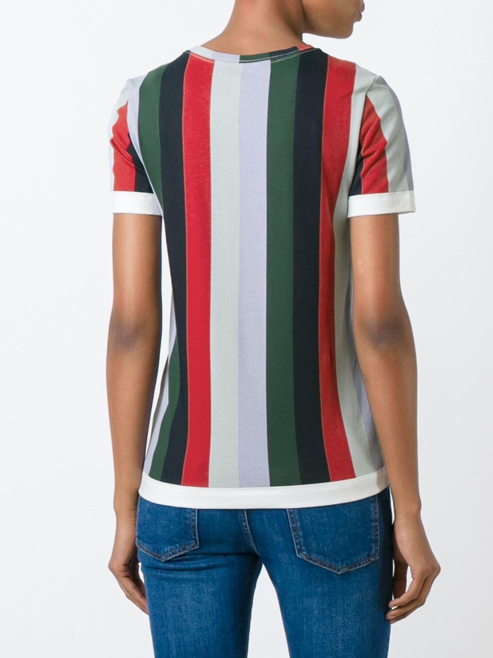 Tory Burch Striped T Shirt Lyst