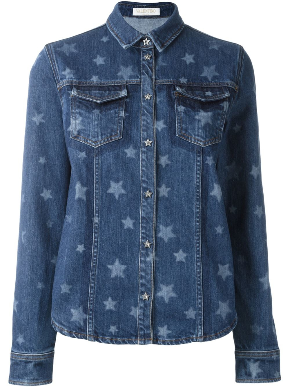 The denim shirt every girl's wardrobe needs: classic styling, high quality denim and pretty press studs. Get it quick, you won't find this anywhere else.