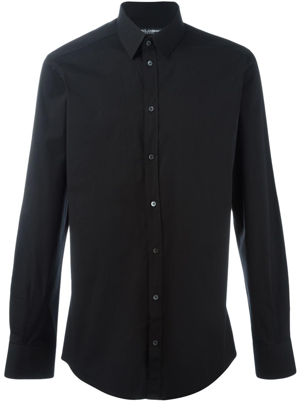Dolce Gabbana Classic Shirt In Black For Men Lyst