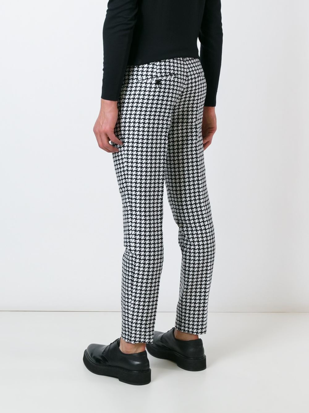 Lyst Dsquared 178 Houndstooth Trousers Men Silk