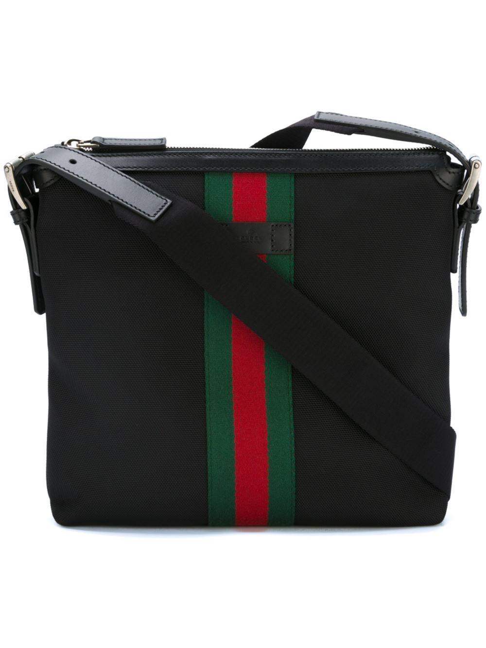 gucci 39 techno 39 messenger bag in black for men lyst. Black Bedroom Furniture Sets. Home Design Ideas