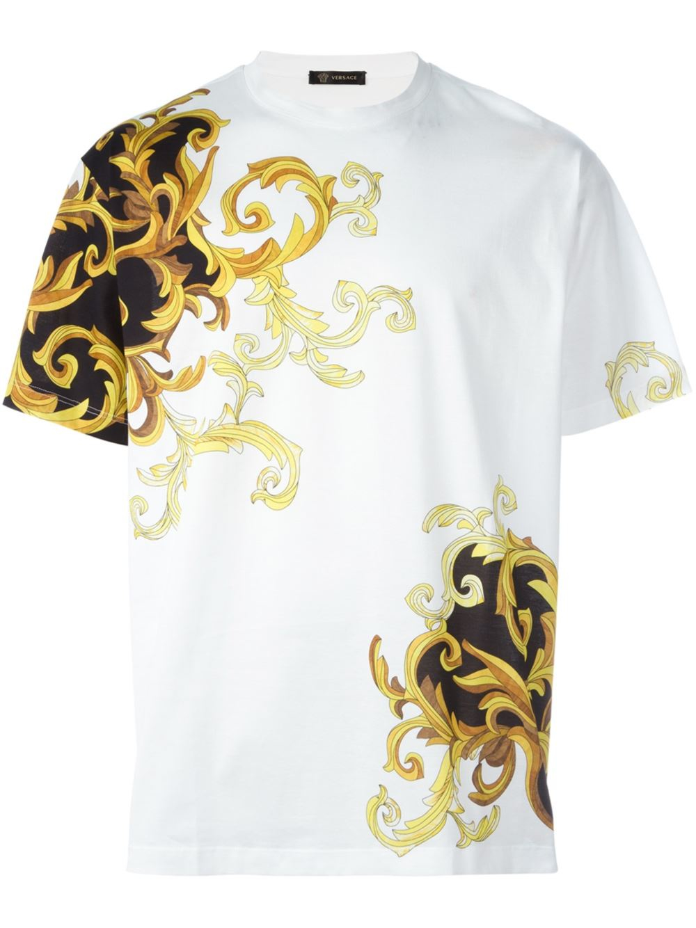 ac966e240 Versace Baroque Accent T-shirt in White for Men - Lyst