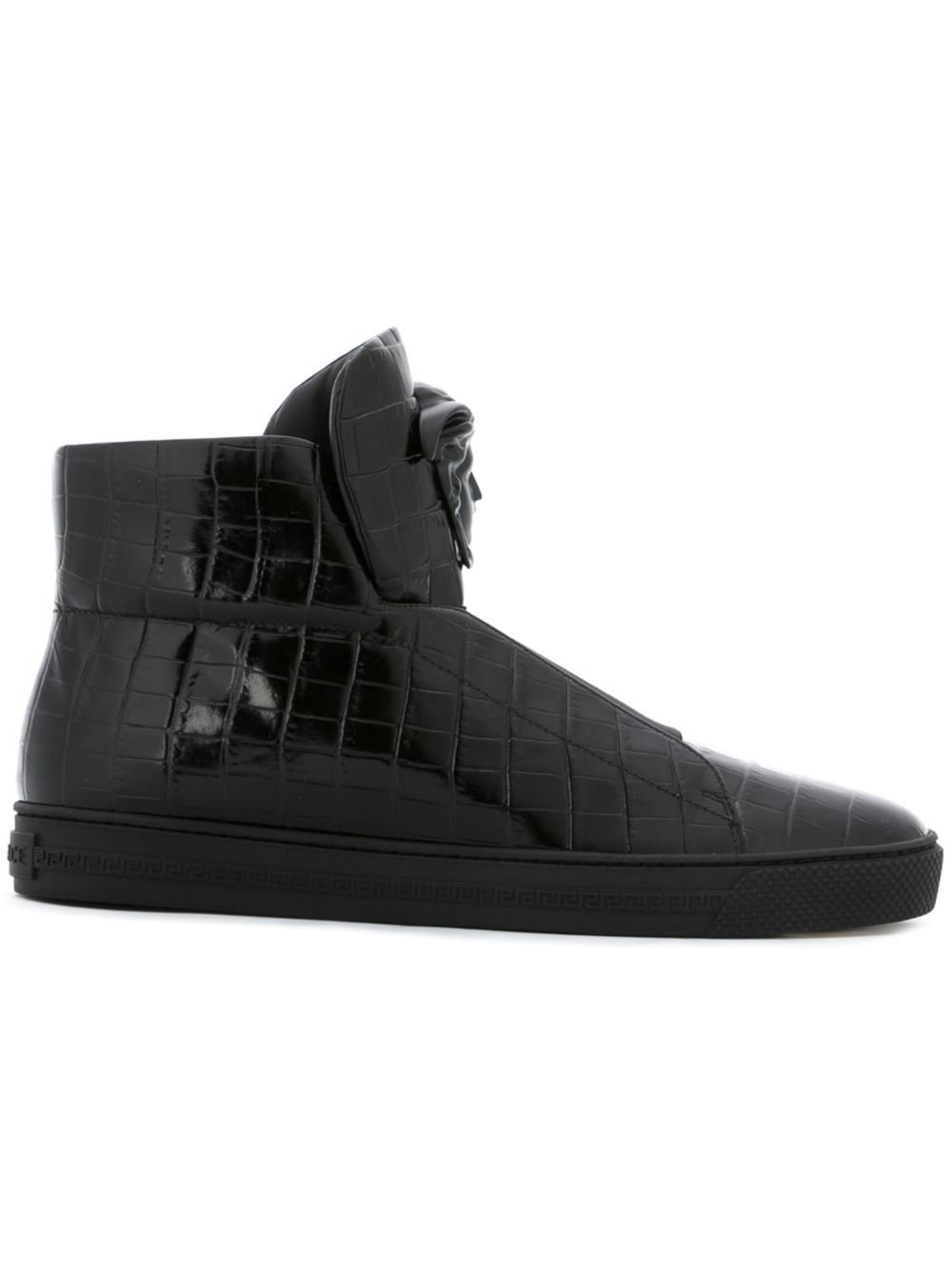versace palazzo idol medusa leather sneakers for men lyst. Black Bedroom Furniture Sets. Home Design Ideas