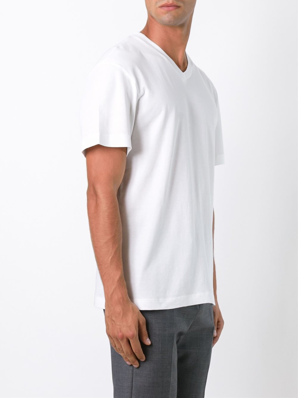 Lyst james perse v neck t shirt in black for men for James perse t shirts sale