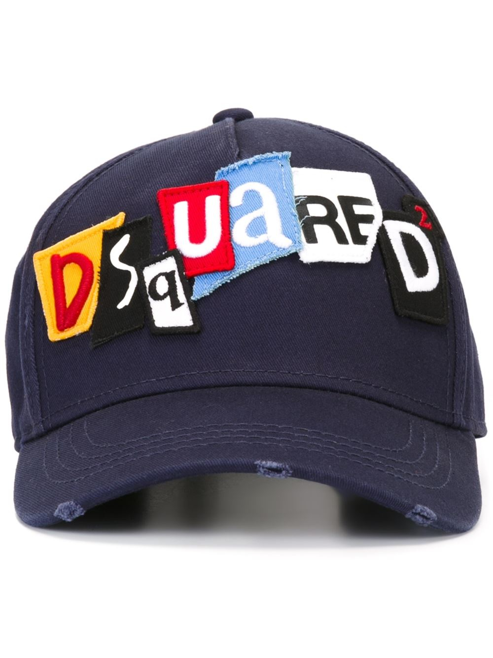 Lyst - DSquared² Punk Patch Baseball Cap in Blue for Men eaa787d716c