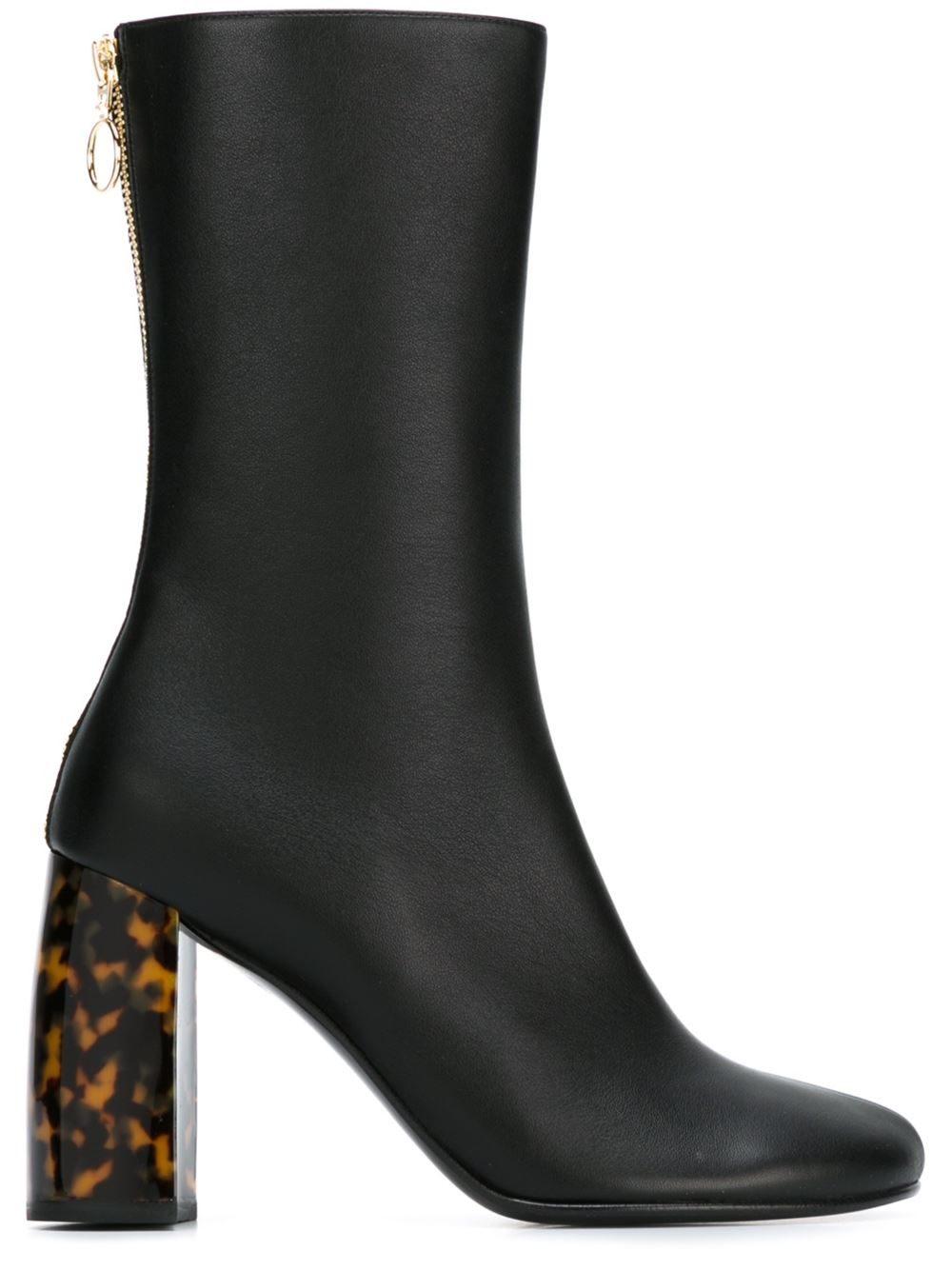 Stella mccartney Tortoiseshell Faux Leather Ankle Boots in ...