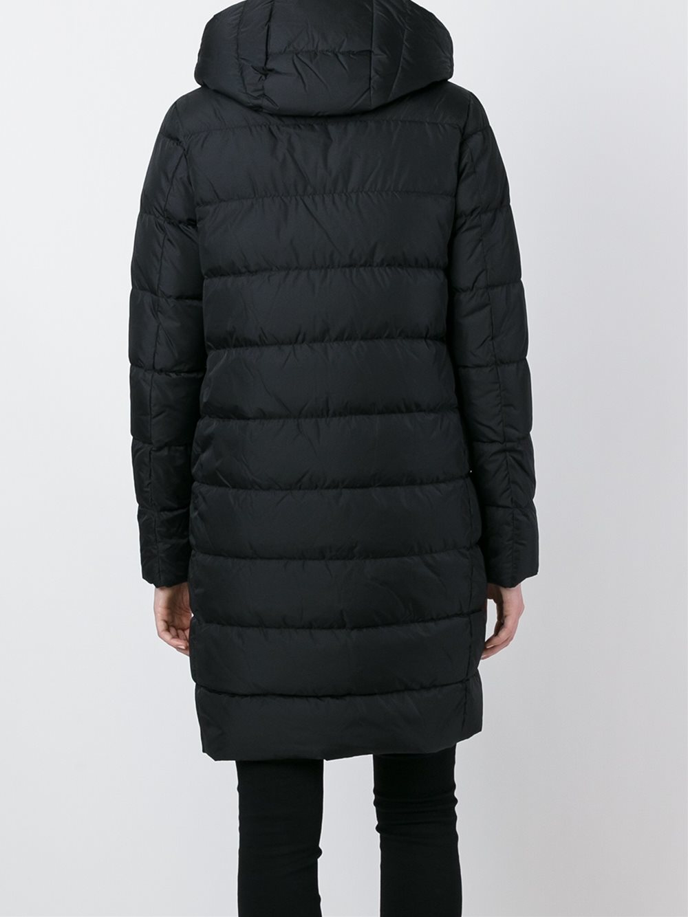 Lyst - Herno Hooded Puffer Coat in Black