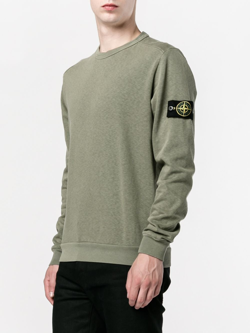 stone island 65360 cotton sweatshirt in blue for men lyst. Black Bedroom Furniture Sets. Home Design Ideas